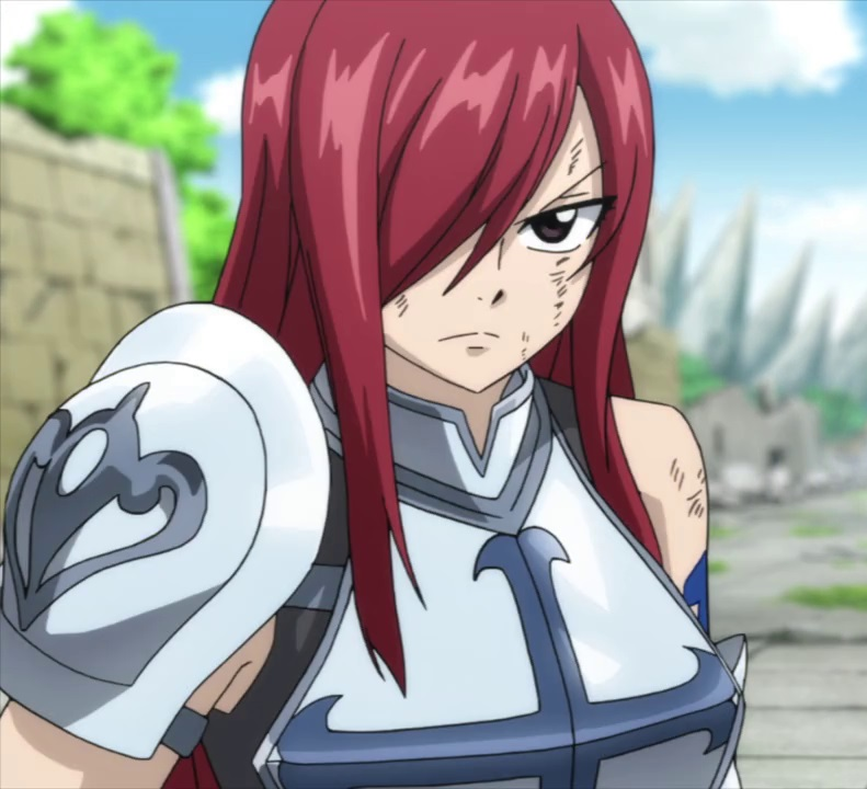 female anime characters - Erza Scarlet